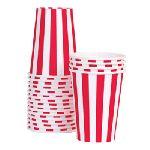 【PaperEskimo】パーティーカップ キャンディケーンレッド 12ピースセット