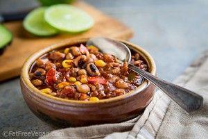 Black-eyed Pea Chili with Quinoa and Corn