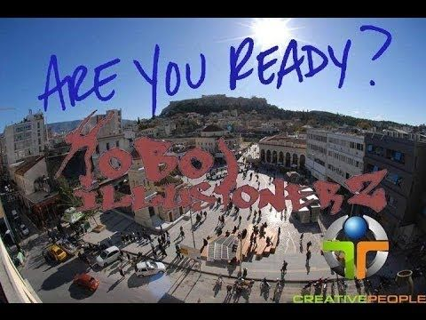 HoboillusionerZ Make you smile! Our first Flashmob in Monastiraki 09/03/...