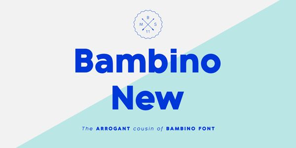 Bambino New font family - Best Fonts 2015