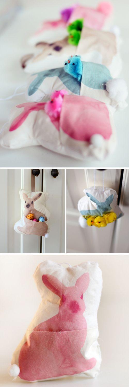 DIY : Mini Bunny Basket Pillows