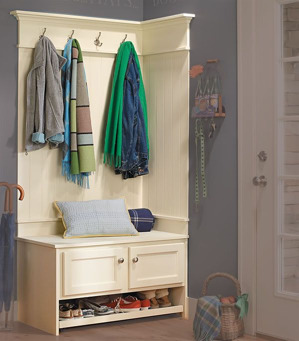 Best 25 small coat closet ideas on pinterest small for Foyer storage ideas
