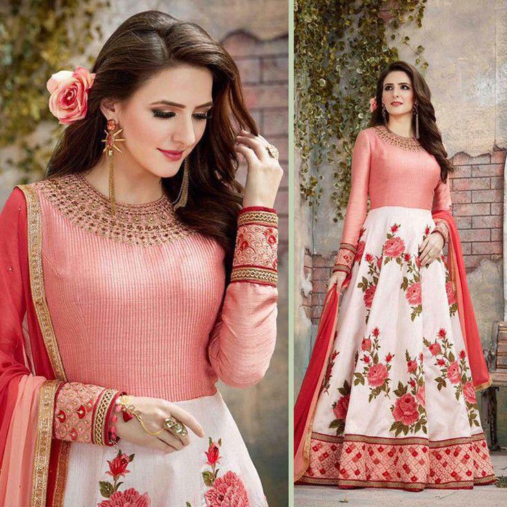 Indian Bollywood Anarkali Shalwar Kameez Georgette Dresses Party Pakistani Suit #Handmade #AnarkaliSalwarKameez #Party
