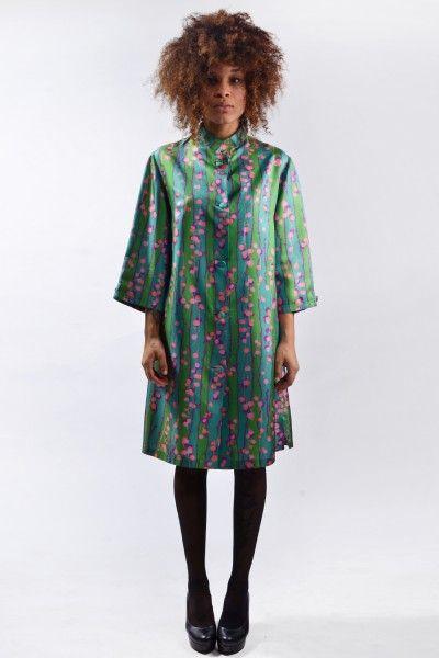 60s groen gekleurd vintage jurk / jas