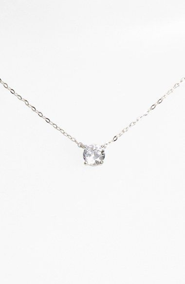 Free shipping and returns on Nadri Cubic Zirconia Pendant Necklace at Nordstrom.com. She'll be elated to receive this short, layerable necklace as a gift. A prong-set solitaire adds timeless elegance that works for most any occasion. Its radiance strikes just the right balance, with an overall effect more bright than glittery, boosting its versatility further.