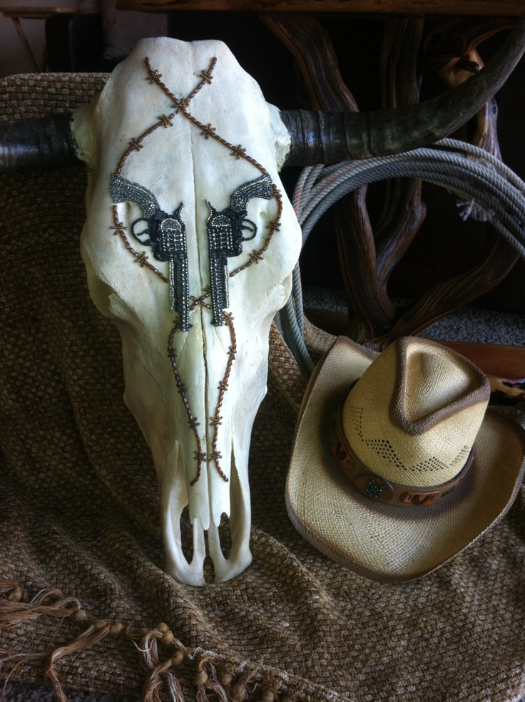 Check this one out!!  Authentic hand beaded steer skull  FREE SHIPPING by SkullKrazy, $275.00