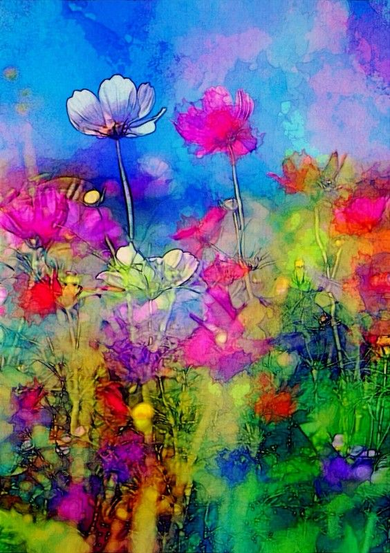 Just a little Ipadart…. loved the blue in this ….Spring Dance | Life In Color