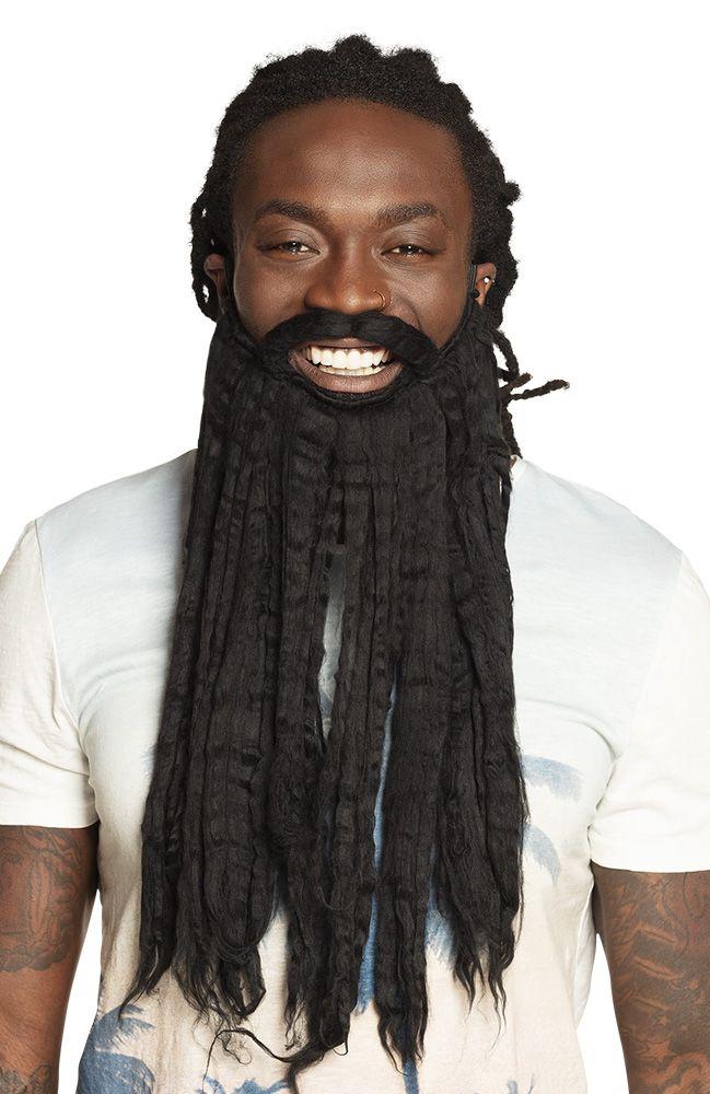 Black Pirate Barbe Moustache Capitaine Jack Caraïbes Party Fancy Dress Costume