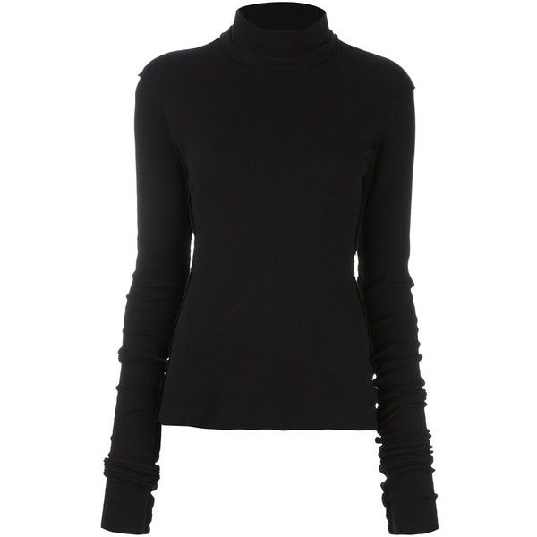 Damir Doma 'Terno' jumper ($297) ❤ liked on Polyvore featuring tops, sweaters, black, jumper top, damir doma sweater, damir doma and jumpers sweaters
