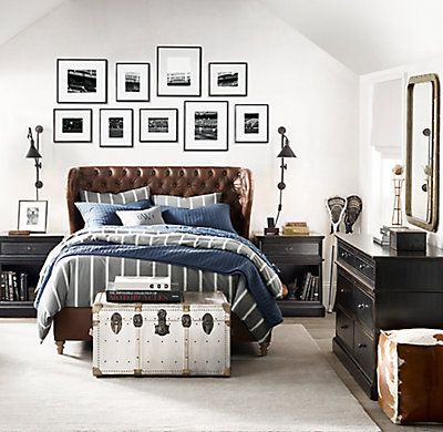 RH TEEN's Vintage Crew Stripe & Antler Print Bedding Collection:Straight up. Inspired by the vintage sporting life, our cotton bedding pairs bold colors with clean stripes and is rendered in crisp reverse cotton sateen.