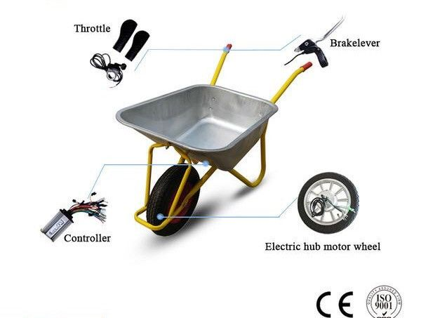 14inch Electric Wheelbarrow Kit Single Wheel Electric Wheelbarrow Hub Motor Kit 24v 36v