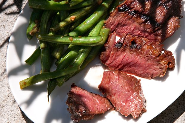 Grilled Skirt Steak With Red Miso Recipe — Dishmaps