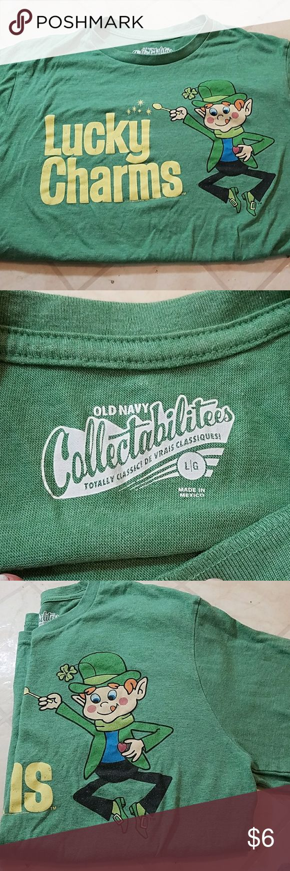 Old navy collectibles t shirt Like new, lucky charms collectible t shirt   50/50 cotton & polyester Old Navy Shirts Tees - Long Sleeve