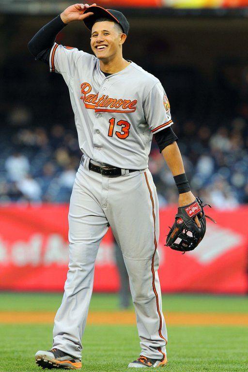 Orioles third baseman Manny Machado reacts during the ninth inning.