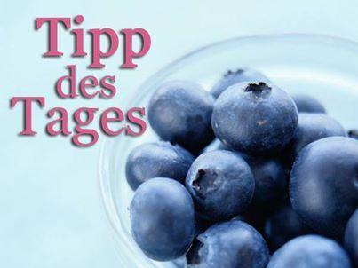TIPP DES TAGES: Esst heute ein paar Blaubeeren! Wieso, verraten wir hier: