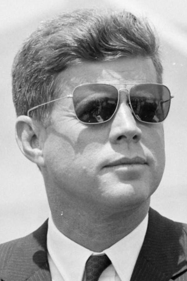 These prescription sunglasses were taken with him to Dallas. 1963(President  ~~ John Fitzgerald Kennedy (May 29, 1917 – November 22, 1963) After military service as commander of Motor Torpedo Boats PT-109 and PT-59 during World War II in the South Pacific, Kennedy represented Massachusetts's 11th congressional district in the U.S. House of Representatives from 1947 to 1953 as a Democrat. Thereafter, he served in the U.S. Senate from 1953 until 1960.❤❁❤❁❤