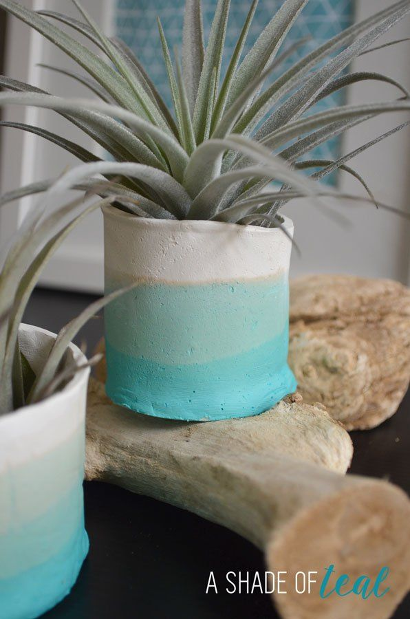 Yeah its Friday!!!!! I made these awesome Teal ombre clay pots awhile ago and you may have seen them in several of my decor pics, but today I'll finally share the tutorial. I love them so muc…