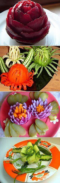 Закуски в виде цветов: для любого праздничного стола / Простые рецепты
