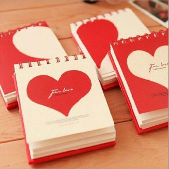 Mini cuore Notepad, Notebook, Pocket Book