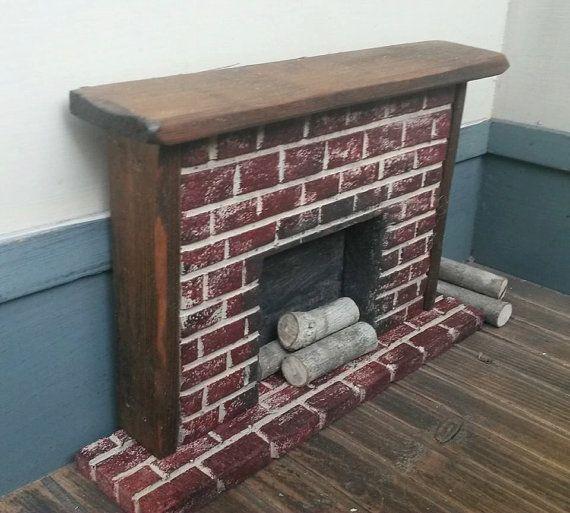 Dollhouse Miniature Primitive Fireplace   1:12  by GooseberryCreek