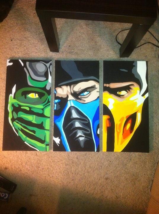 Mortal Kombat paintings. AMAZING!!! hell no deyiverdim.