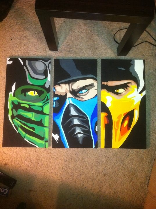 Mortal Kombat paintings. AMAZING!!! hell no deyiverdim.