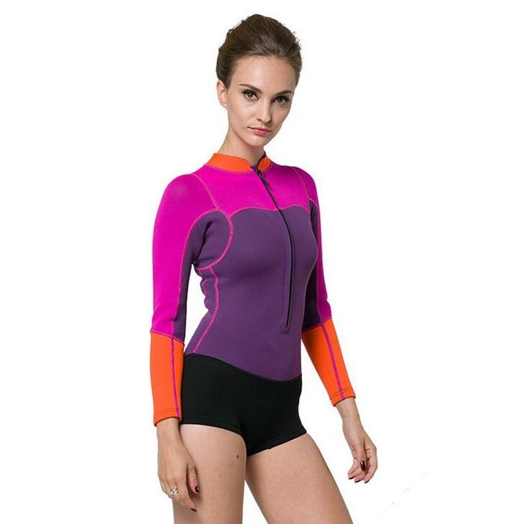 (37.51$)  Know more  - One Piece Neoprene Wetsuit Women's 2MM Thick Long Sleeve Professional High Quality Swimming Snorkeling Diving Surfing Wetsuits