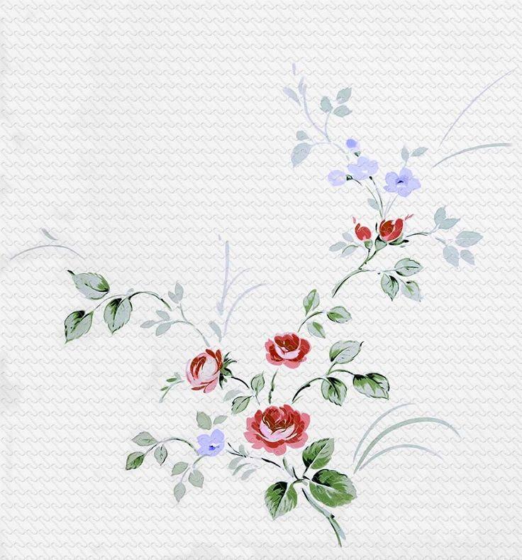 763 painting watercolor romantic rose branch - RU Digital