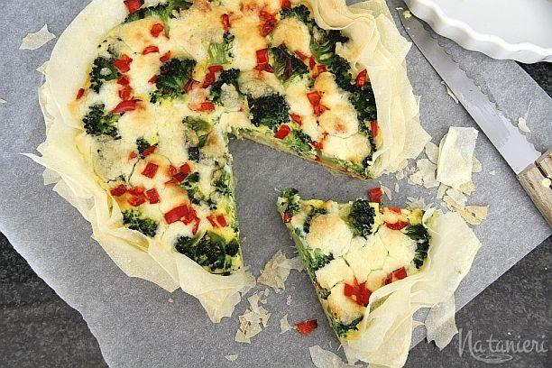 brokolicový koláč so syrom