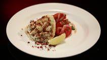 Squid Wraps with Tomato Salad