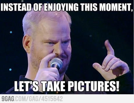Jim Gaffigan understands my views on excessive picture taking by family- just take the photo already!