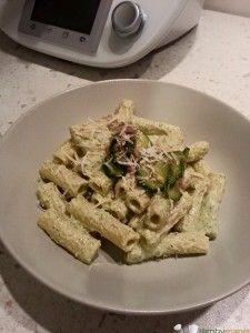 pasta crema di zucchine e prosciutto crudo Bimby