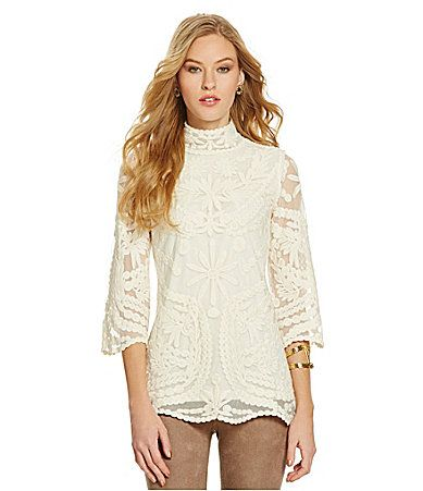 Sugarlips Regal Blanc Lace Tunic Top #Dillards