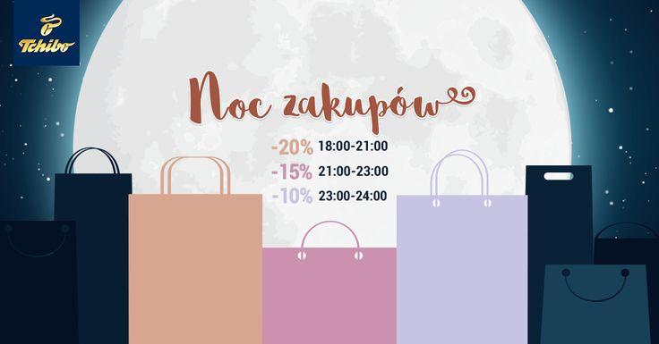 Czas na shopping! Tylko dzisiaj od 18:00 do północy trwa #NocZakupów! Wejdź na www.tchibo.pl i wybierz coś dla siebie! :) #tchibo #tchibopolska