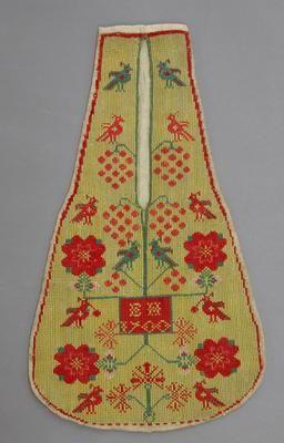Pocket, single, embroidered