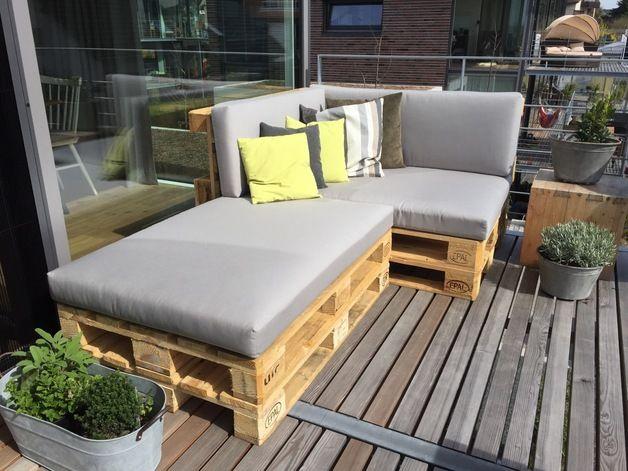 Sitzkissen & Bodenkissen - Palettenkissen, Palettenauflagen Lounge aus Dralon - ein Designerstück von Germes-WOL bei DaWanda