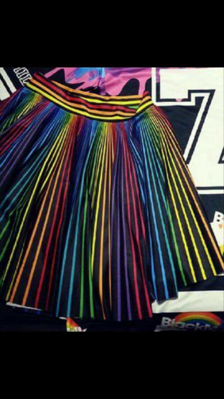 Rainbow cheerleader skirt