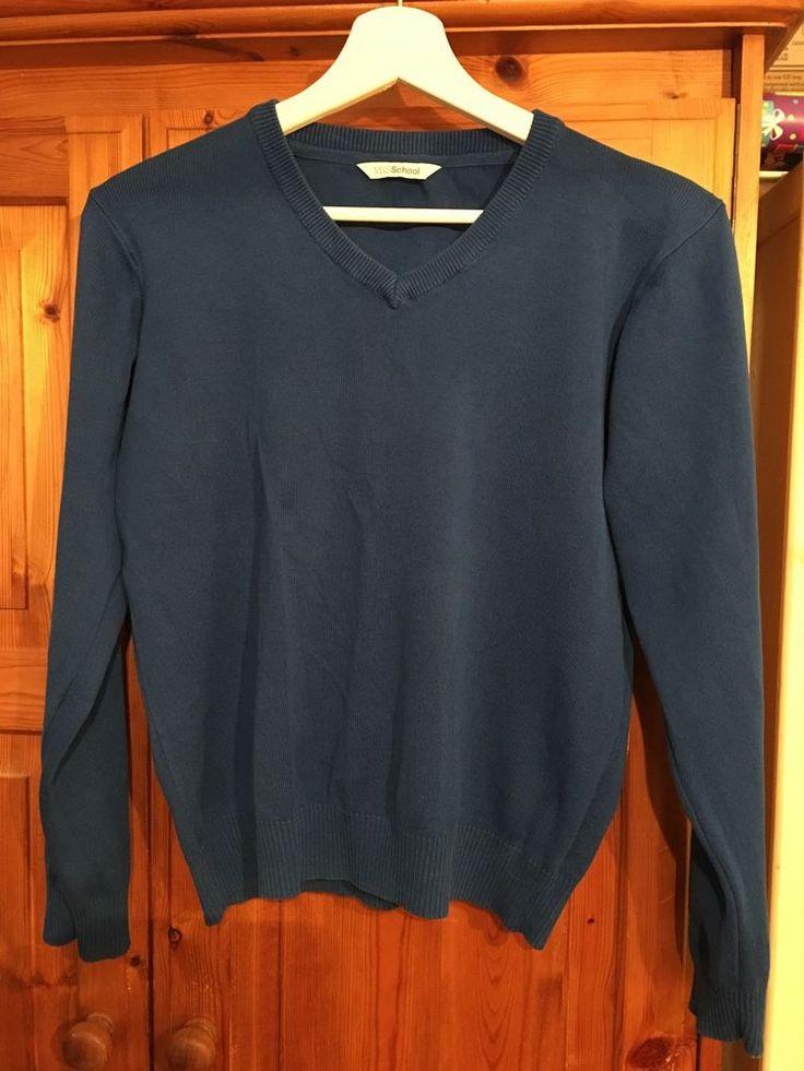 M&S School Jumper Size 13-14 Years Royal Blue    eBay