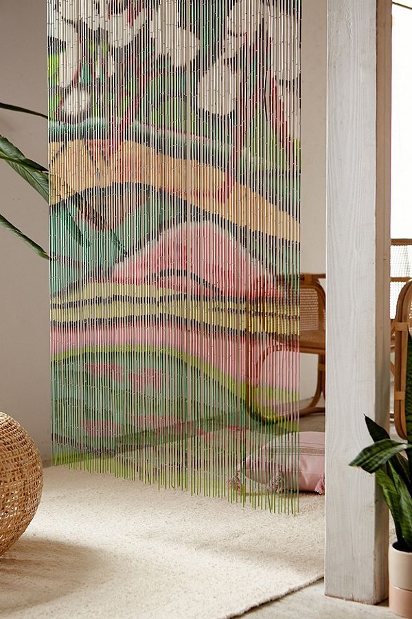 Floral Bloom Oversized Bamboo Beaded Curtain Bamboo Beaded Curtains Beaded Curtains Beaded Door Curtains