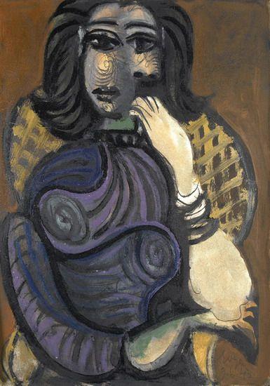 Pablo Picasso - Femme dans un fauteuil - 1946