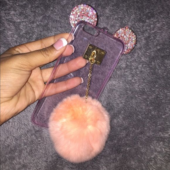 iPhone 6+/6s+ phone case! [NOT MK] listed as MK for attention! Super cute case! And the fluffy ball is in style! BRAND NEW!! I have a 6 and ordered the wrong size  offer me something ! Michael Kors Accessories Phone Cases