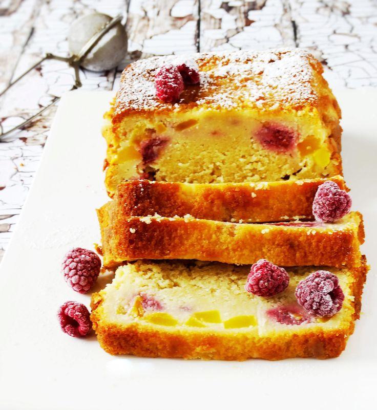 Yoghurtcake met mango en frambozen - Junnekes recepten