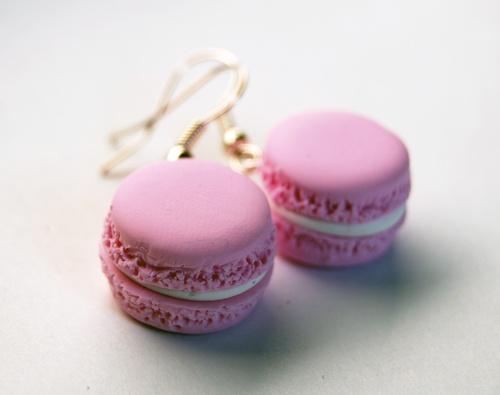 "Orecchini ""I love Paris"" - Fimo Macarons"