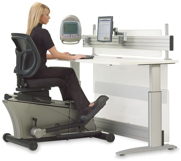 Elliptical Machine Adjustable-Height Desk. Yes, you read that right. You can pedal away while at your desk. 8 hours a day. All week. They even offer a running treadmill version if this isn't enough of a workout.