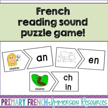 French Reading Sound Puzzle Game!
