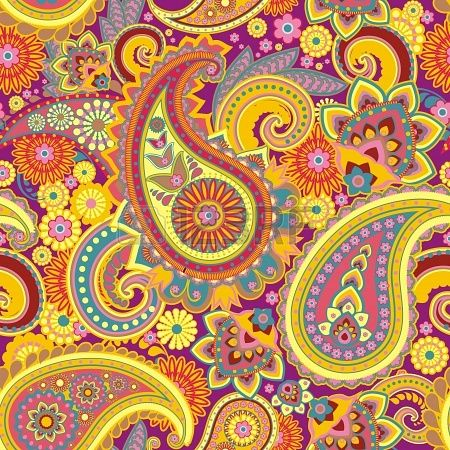 Seamless pattern based on traditional Asian elements Paisley Stock Photo - 16194554