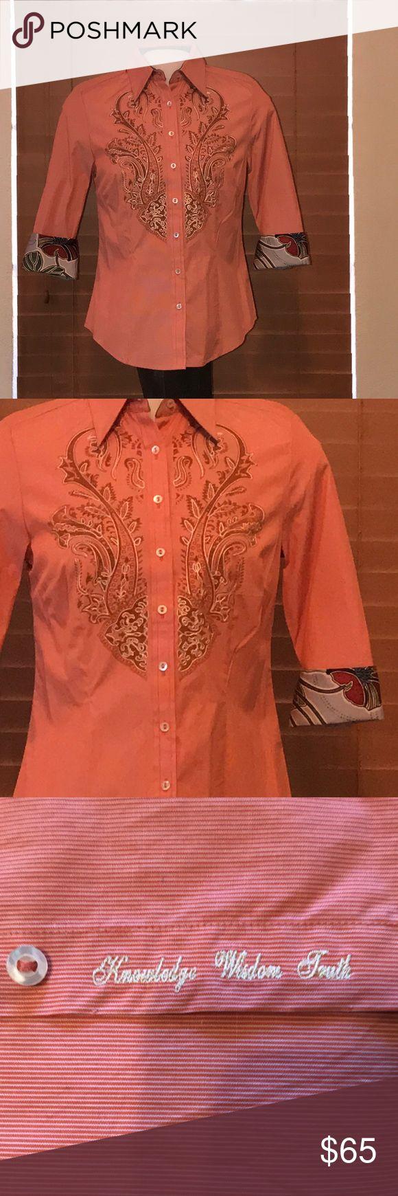 Robert Graham Blouse Beautiful Robert Graham blouse. Robert Graham Tops Button Down Shirts