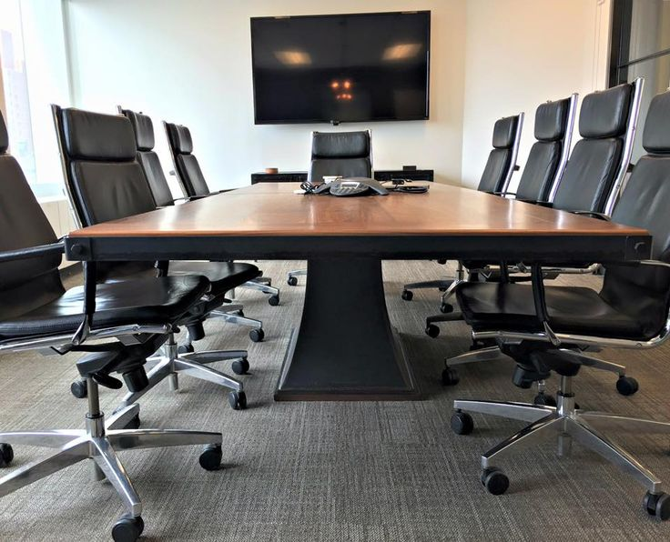 Good Client Photos Of A Walnut Top Floyd Conference Table By Vintage Industrial  Furniture