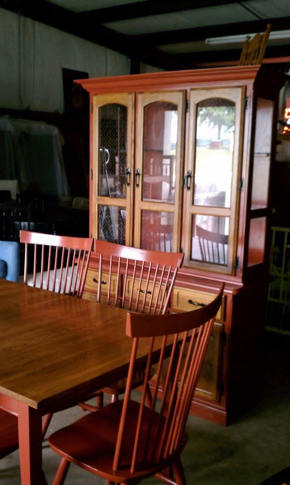 Recreated by katee farm dining room table and 6 chairs for Chinese furniture restoration