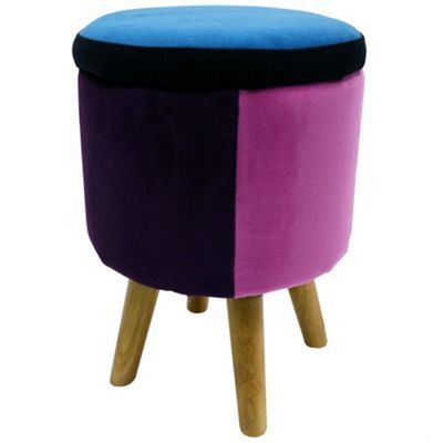 Buy Soleil - Contemporary Round Storage Stool - Blue / Pink / Red from our Bar Tables & Stools range - Tesco